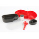 Set de vajilla Wildo Camp-a-box Complete rojo